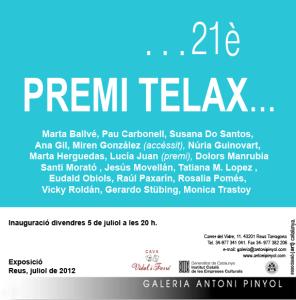 CARTEL PREMI TELAX