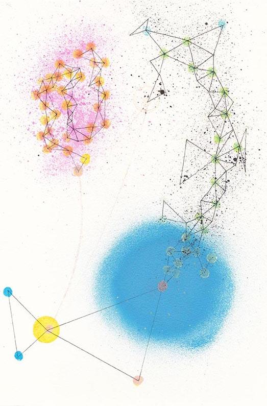 28x19 Tinta, pintura acrílica y sintética sobre papel.